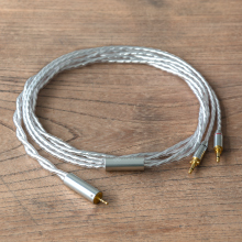 Silver-coated cable for headphones